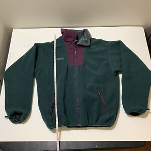 Vintage Columbia Fleece USA Anorak Jacket Full Zip Purple Nylon Navajo Aztec