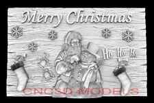 3d Model Stl For Cnc Happy New Year Aspire Merry Christmas Santa Claus D752