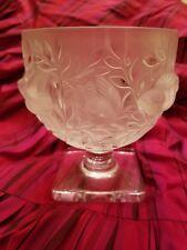Vintage Lalique Elizabeth Crystal Birds and Vines Vase