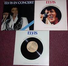 3 Elvis Albums Records A Legendary Performer In Concert