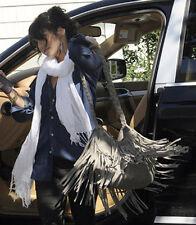 JJ Winters Vanessa # 254 Classic GREY Suede Fringe Coachella Crossbody BNWT FAB