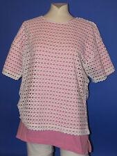 Damen T-Shirt Set rosa weiß Gr.M Loch T-Shirt Bluhm Collection Vunic