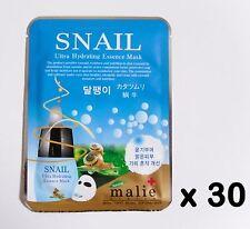 30pcs Korea Beauty cosmetics [Malie] SNAIL Essence Face Mask sheets & peels