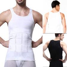 US Mens Slim Fit Shirt Body Shapers Vest Compression Tank Top Moobs Lift Corset