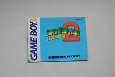 Super Mario Land 2 Instruction Manual Nintendo Gameboy