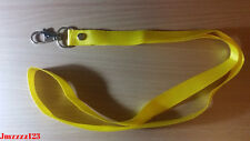 1 PC Lanyard ID Key Holder Clip Name Tag ID Card Holder Neck Strap - YELLOW