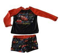 Boys size 6 DISNEY PIXAR CARS Long sleeve rash vest top rashie  bottoms set NEW