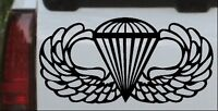 AIRBORNE Wings Car or Truck Window Laptop Decal Sticker Black 6X3