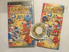 SONY PSP PORTABLE PLAYSTATION GAME FAT PRINESS FISTFULL OF CAKE COMPLETE TESTED