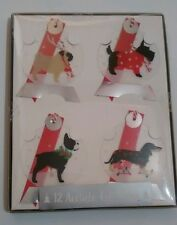 gift tags dogs breeds acetate designs 4 x 3  12 tags printed acetate new