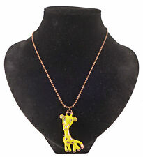 Quirky Giraffe Crystal Costume Jewellery Necklace