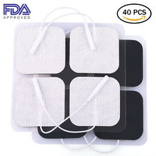 40PCS TENS Unit Electrode Pads Replacement for TENS EMS Massage 2 Inch Square