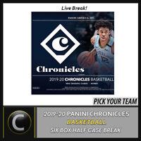 2019-20 PANINI CHRONICLES 6 BOX (HALF CASE) BREAK #B440 - PICK YOUR TEAM
