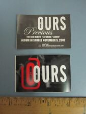 Ours 2002 Dreamworks Records precious promotional stickers New Old Stock