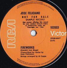 Jose Feliciano ORIG OZ Promo 45 Fireworks EX '70 RCA Latin Pop Rock