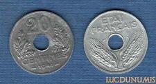 Etats Français, 1940 – 1944 – 20 Centimes Type 1920 – 1941 SUP ++++