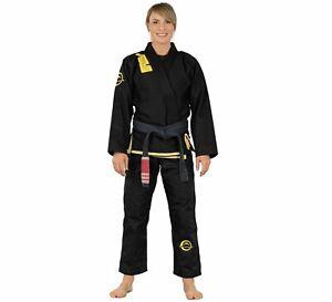Fuji Submit Everyone Womens Brazilian Jiu-Jitsu BJJ Gi - Black w Yellow