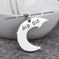 3 Parts Silver Heart Sisters Necklaces - Xmas Gifts For Her Best Friends Forever