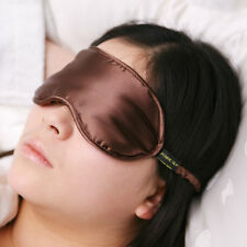 Jasmine Silk Pure Silk Filled Sleep Eye Mask Sleeping blindfold Chocolate