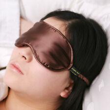 Jasmine Silk Pure Silk Filled Sleep Eye Mask Sleeping blindfold Chocolate