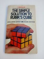 The Simple Solution to Rubik's Cube by James G. Nourse Vintage Manual