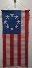Patriotic Burlap U.S. Flag Wall Hanging Decoration