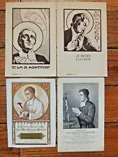 4 images pieuses Saint Louis Marie Grignon de Montfort  - Holy card collection