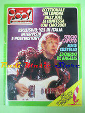 rivista CIAO 2001 29/1984 POSTER Yes Billy Joel Elvis Costello Snowy White No cd