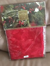 """Lenox For The Holidays Red Damask Tablecloth 70"""" Round New"""