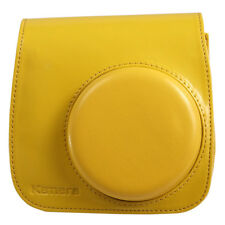 Kamera for Fujifilm Film instax mini 8 PU Leather Bag Yellow with Front Cover