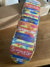 Supreme New York Distorted Box Logo Deck Skateboard Yellow 8.375 - NEU / OVP