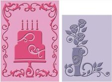 Cricut Lite Companion Cuttlebug Embossing Folder Celebrate with Flourish 2001044