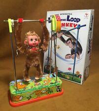Vintage Loop the Loop Monkey Battery Opp Toy Works Great Tin