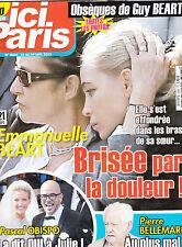 ICI PARIS N° 3664 . sept 2015 . OBSEQUE GUY BEART / OBISPO / BELLEMARE / LAFONT