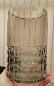 Large Vintage Retro Smokey Glass Vase In Excellent Condition Sklo Union???