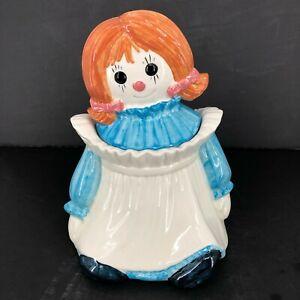 Raggedy Ann California Pottery Poppytrail by Metlox Ceramic Cookie Jar