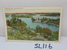 VINTAGE POSTCARD 1928 POSTED CANADIAN ISLES 1000 ISLANDS NEW YORK NY PICTURE