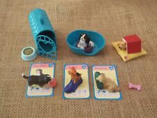 Vintage Hasbro Puppy in My Pocket Lot Set Big Boy Vanessa Jessie w/ Card