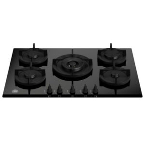 Bertazzoni P755CMODGNE 75cm Modern Series 5 Burner Gas On Glass Hob – BLACK