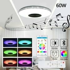 60W Dimmbar LED Deckenleuchte Deckenlampe bluetooth Lautsprecher APP Steuerung