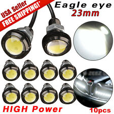 10 PCS 23mm 12V 9W Eagle Eye LED Lights Car Daytime Running Signal Bulbs White