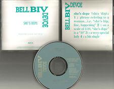 BELL BIV DEVOE B.B.D. She's Dope PROMO DJ CD single Boyz II men 1990 USA
