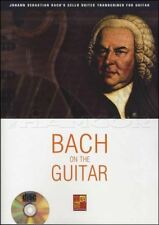 J S Bach on the Guitar TAB Music Book with CD Cello Suites Transcribed Classical