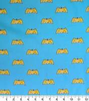 Batman Fabric-Logo-DC Comics-FQ-100% Cotton-Licensed-Masks/Quilting