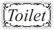 Toilet Door Sign Self Adhesive Vinyl Sticker, Decal Bath Room Door Sticker
