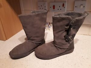NEXT - LADIES SOFT GREY BOOTS - SIZE 4