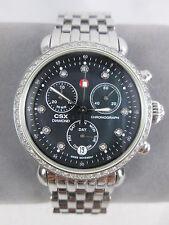 NEW Michele Silver CSX 36 Diamond Black Ladies Watch Refurbished MW03M01A1928