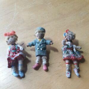 3 X Grecon Dolls / Miniature Dolls / Vintage