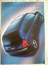 Renault Clio 16v brochure Mar 1999