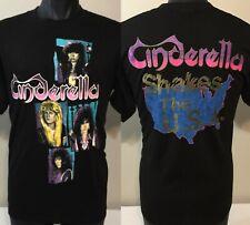 Vintage Cinderella Shakes The USA Tour T-Shirt XL 1986 Rock Band Concert Tee